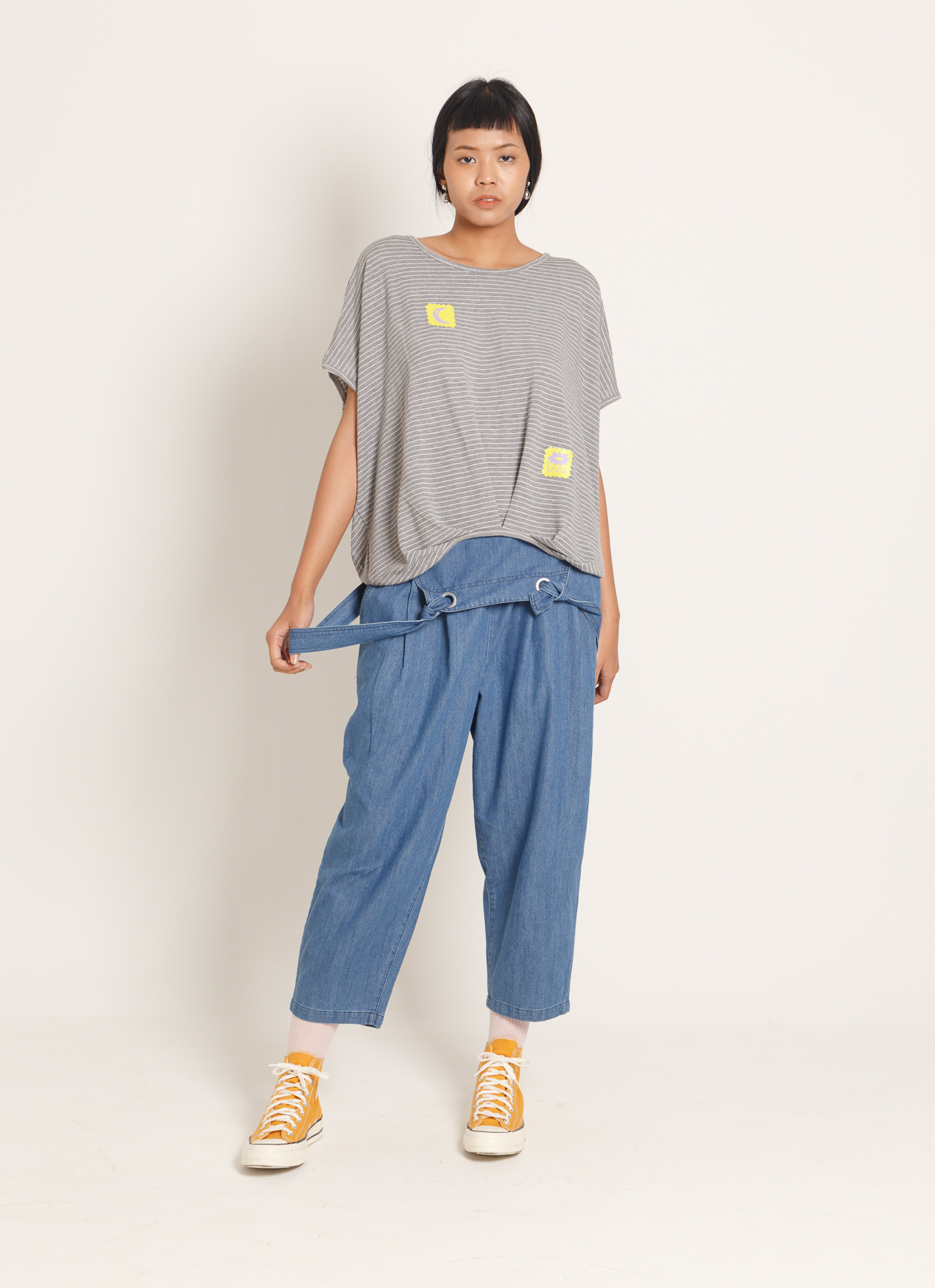 BOWN Lyrra top x OWI - Gray