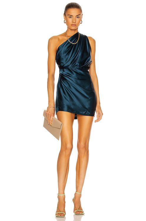 The Sei Asymmetric Draped Mini Dress