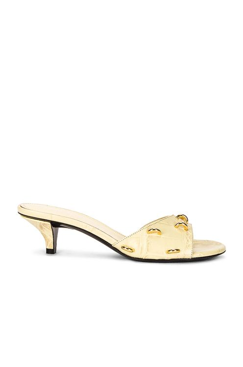 Givenchy Open Toe Embossed Croc Mules
