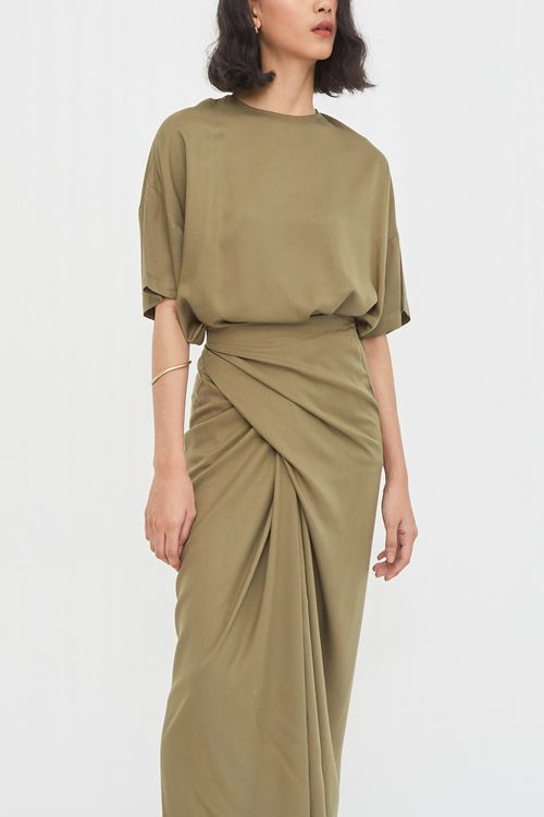 Shopatvelvet Celine Dress Olive