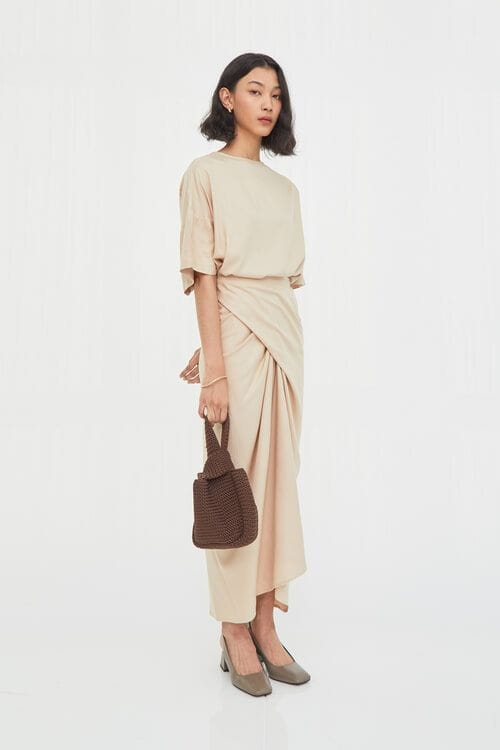 Shopatvelvet Celine Dress Ecru