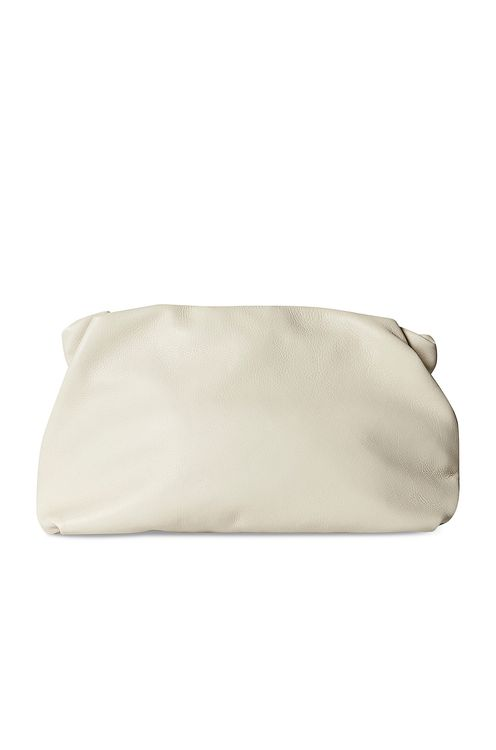The Row Bourse Grain Leather Clutch