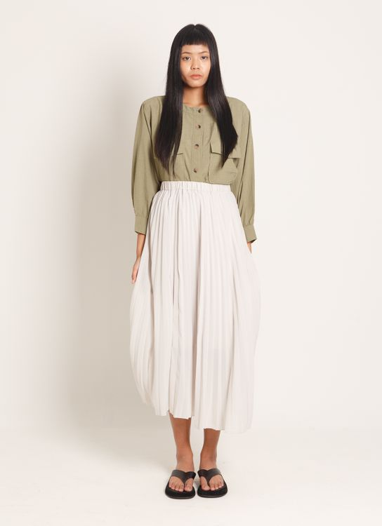 American Holic Midori Pleated Skirt - Light Gray