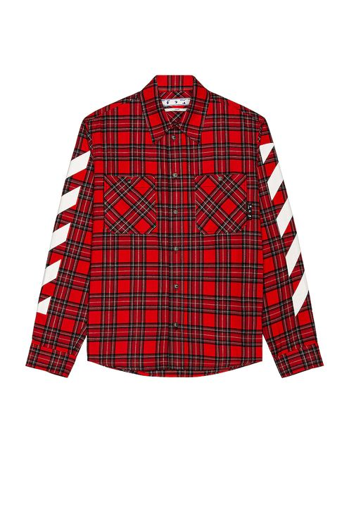 Off-White Diag Flannel Shirt