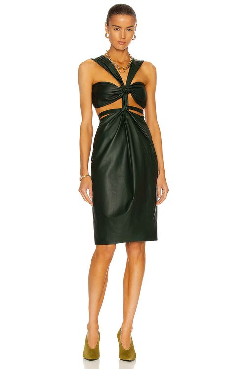 Christopher Esber Leather Knotted Dress