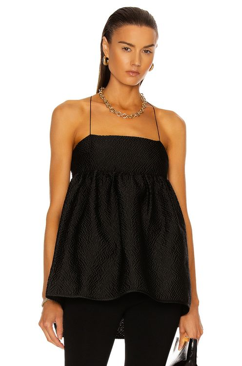 Cecilie Bahnsen Hortensia Sleeveless With Open Back Top