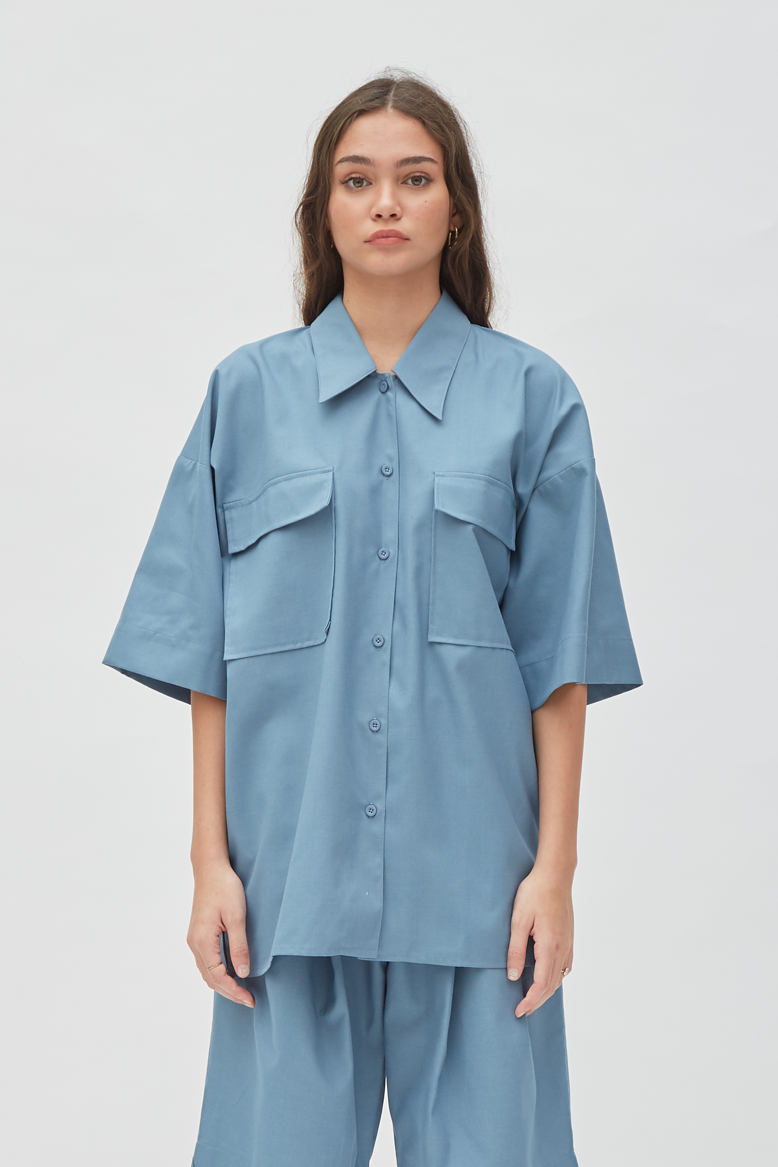 Shopatvelvet Moscow Shirt Blue