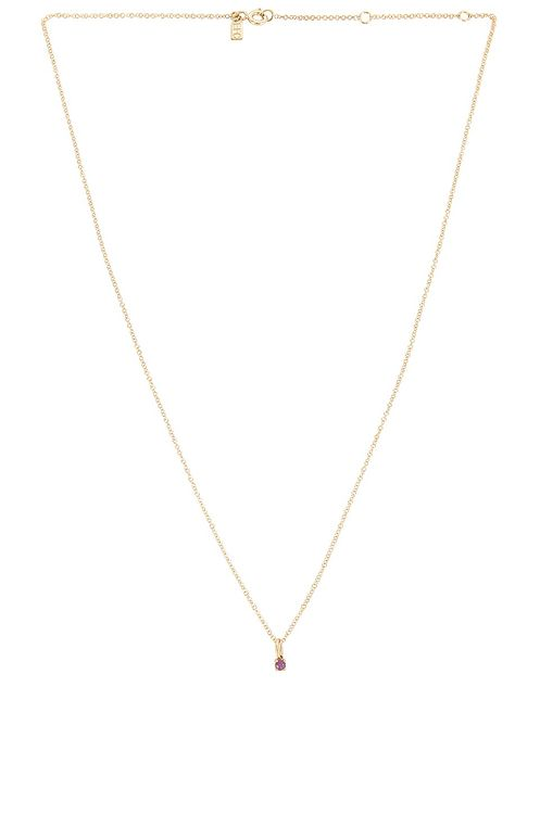 EF Collection Amethyst Birthstone Charm Necklace