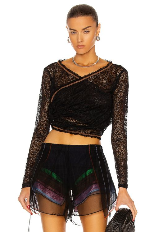 Y PROJECT Twisted Lace Top