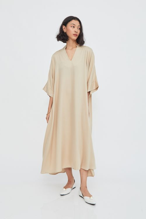 Shopatvelvet Atlas Maxi Dress Ecru