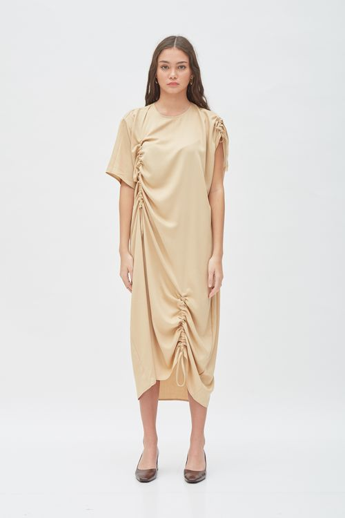 Shopatvelvet Magnitude Dress Sand