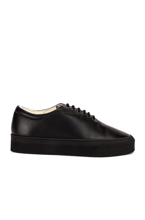 The Row Marie H Lace Up Leather Sneakers