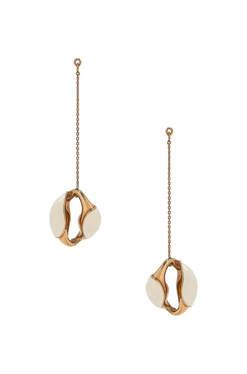 Chloé Brass and Lacquer Dangle Earrings