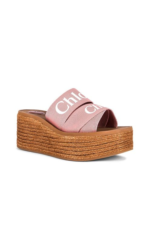 Chloé Woody Canvas Espadrille Mules