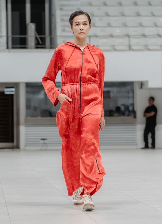 Cover Me Not Hooded Jumpsuit - Ohmm By Bai X Kelly Tandiono