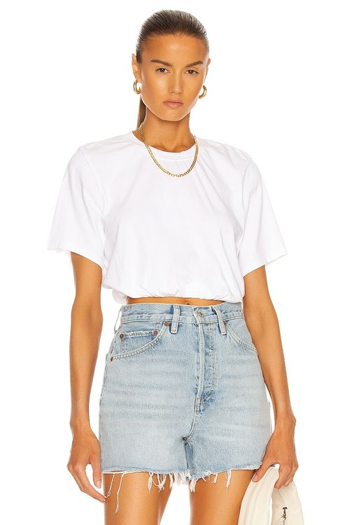 The Range Bubble Cropped Short Sleeve Top