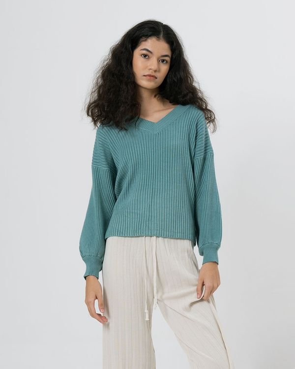 3Mongkis Piere Top - Turquoise