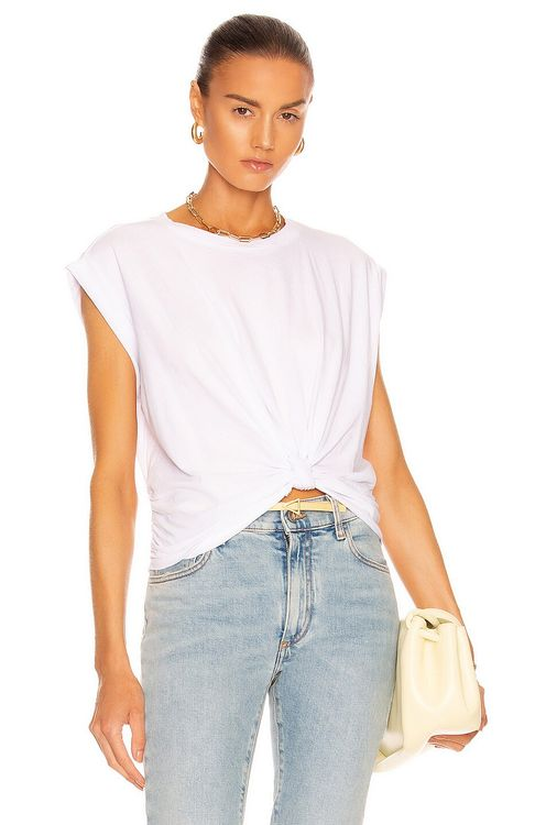 Frame Knotted Rolled Tee