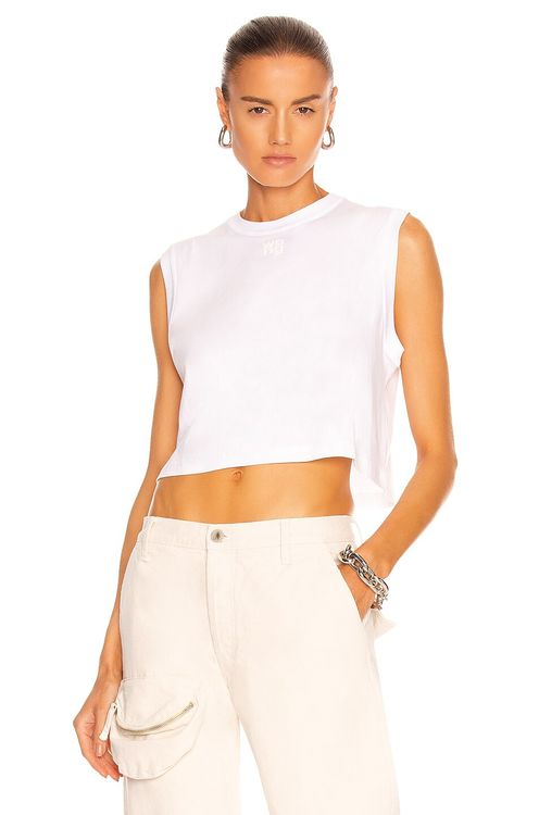 T by Alexander Wang Foundation Jersey Muscle Tee