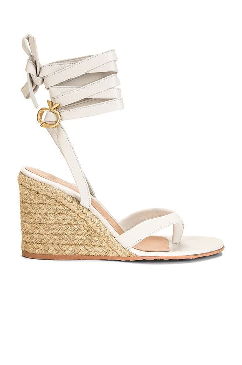 Gianvito Rossi Strappy Espadrille Wedges