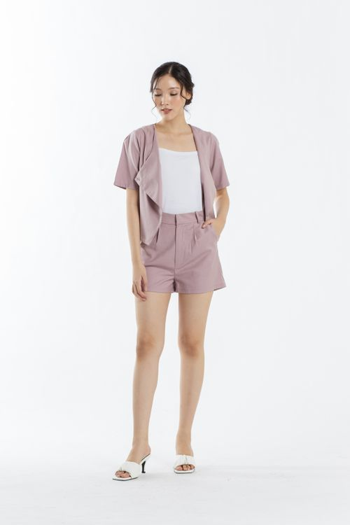 CLOTH INC Days Linen Shorts in Lilac