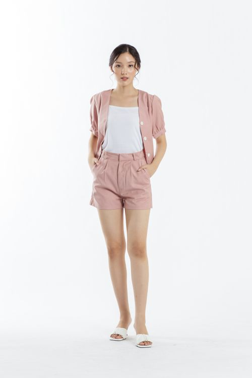 CLOTH INC Days Linen Shorts in Rose