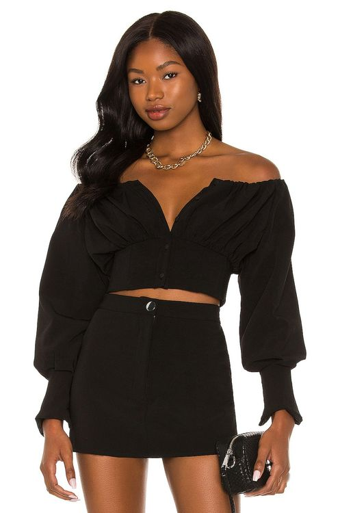 h:ours Sybille Off Shoulder Top