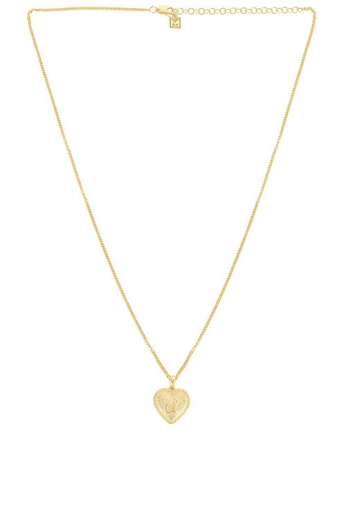 The M Jewelers NY Heart Letter Pendant Necklace