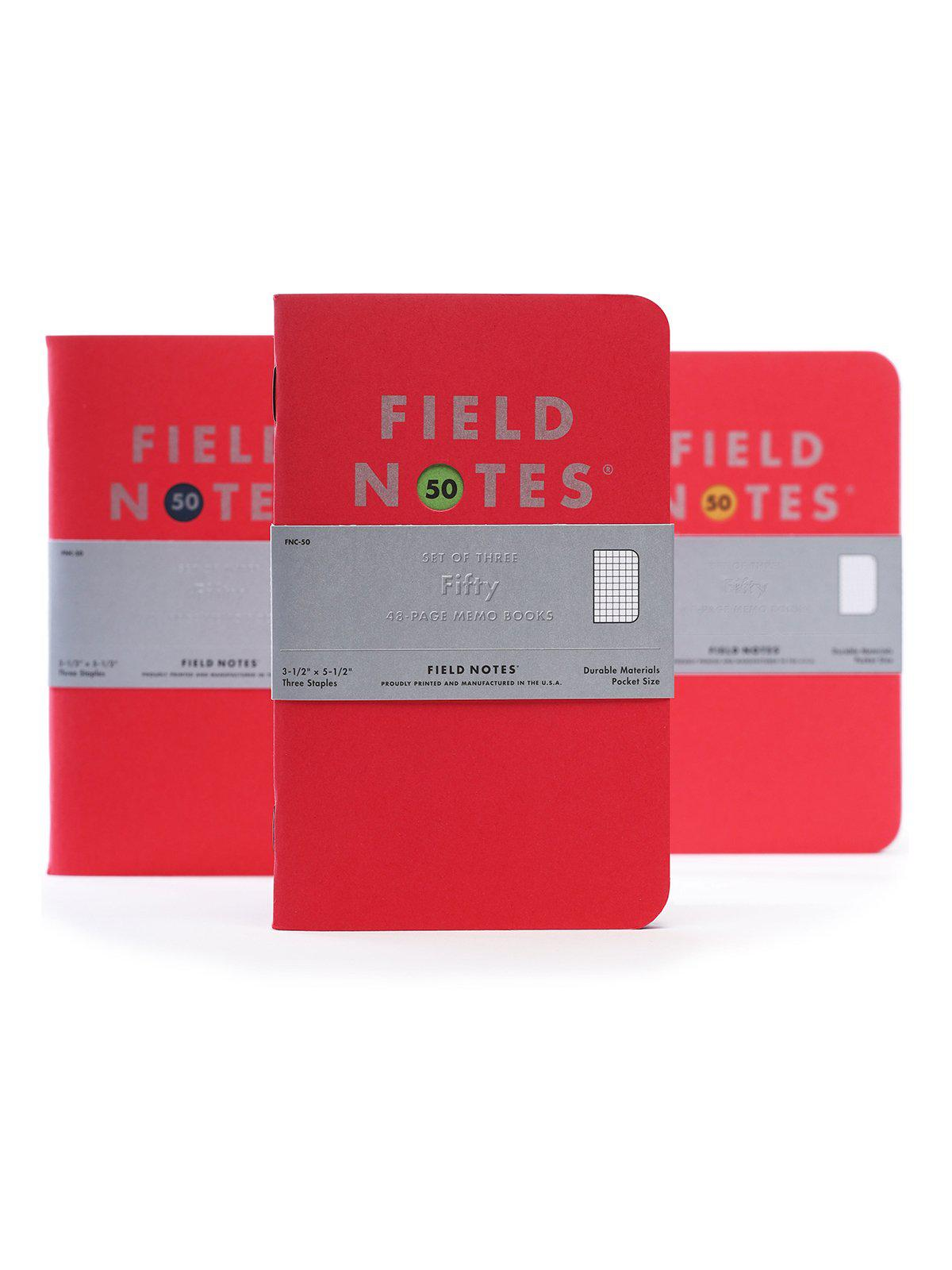 Field Notes Field Notes Fifty Back To Basics 3 Pack Graph Paper