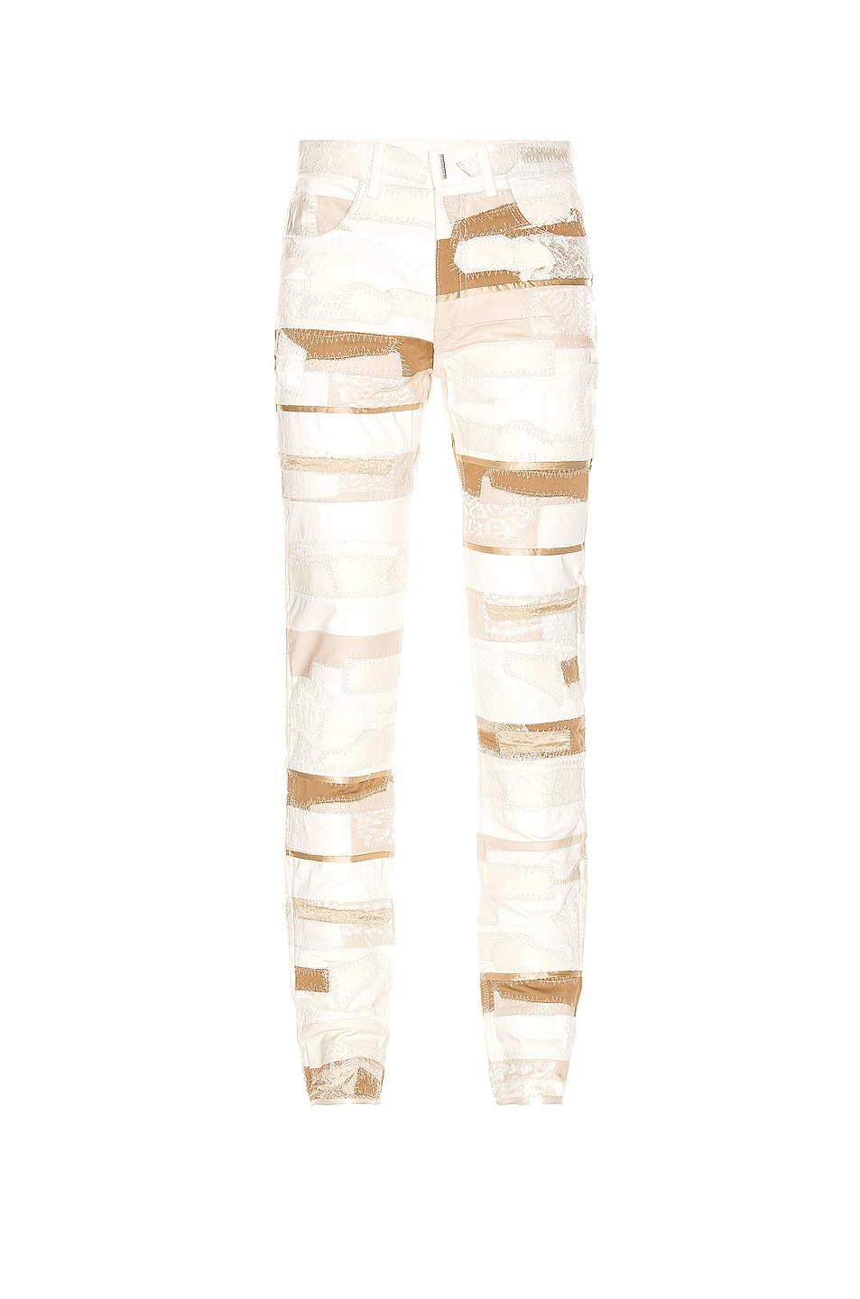 Givenchy Lace & Leather Jeans