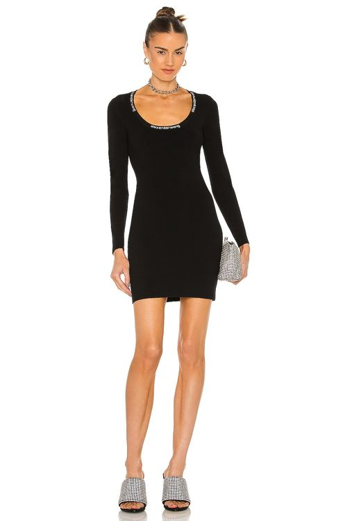 T by Alexander Wang Bodycon Scoop Neck Dress