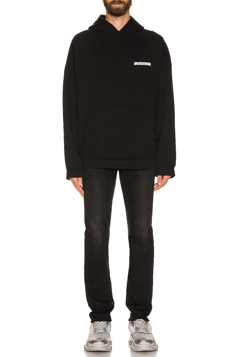 Balenciaga Embroidered Wide Fit Hoodie