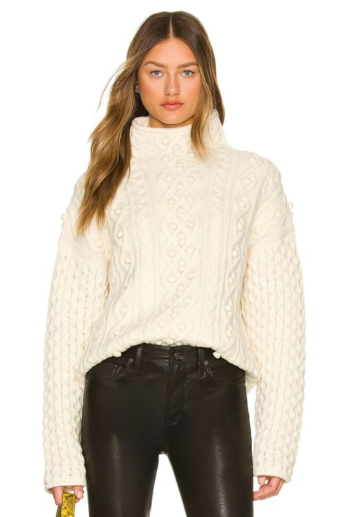 Theory Mixed Cable Pullover