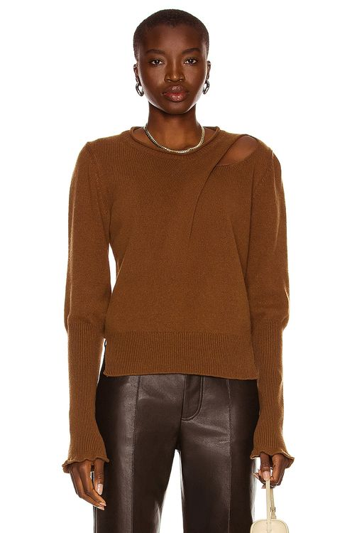 Aisling Camps Recycled Cashmere Draped Crewneck Sweater