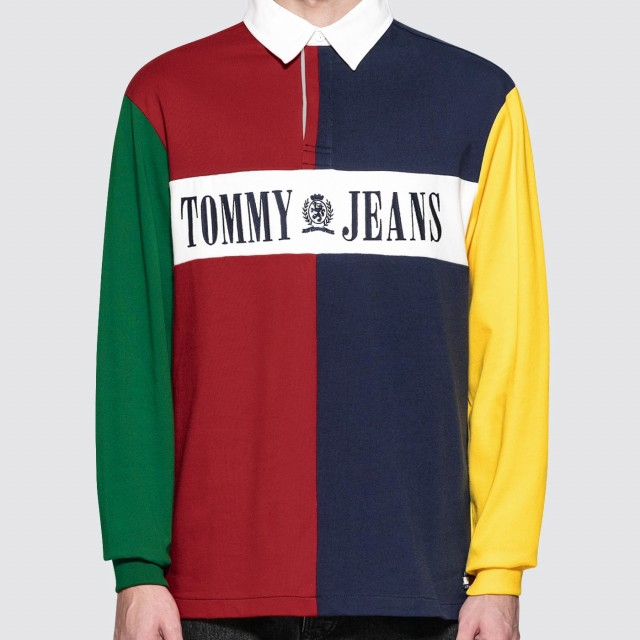 d64fd2665b8 Original Tommy Jeans 90s Colorblock Rugby Shirt At Indonesia. Vtg 90s Tommy  Hilfiger Sailing Gear ...