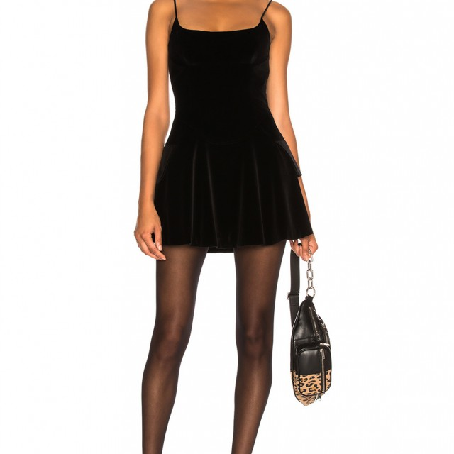 375269246a3 Buy Original Alexander Wang Velvet Fit and Flare Mini Dress at Indonesia
