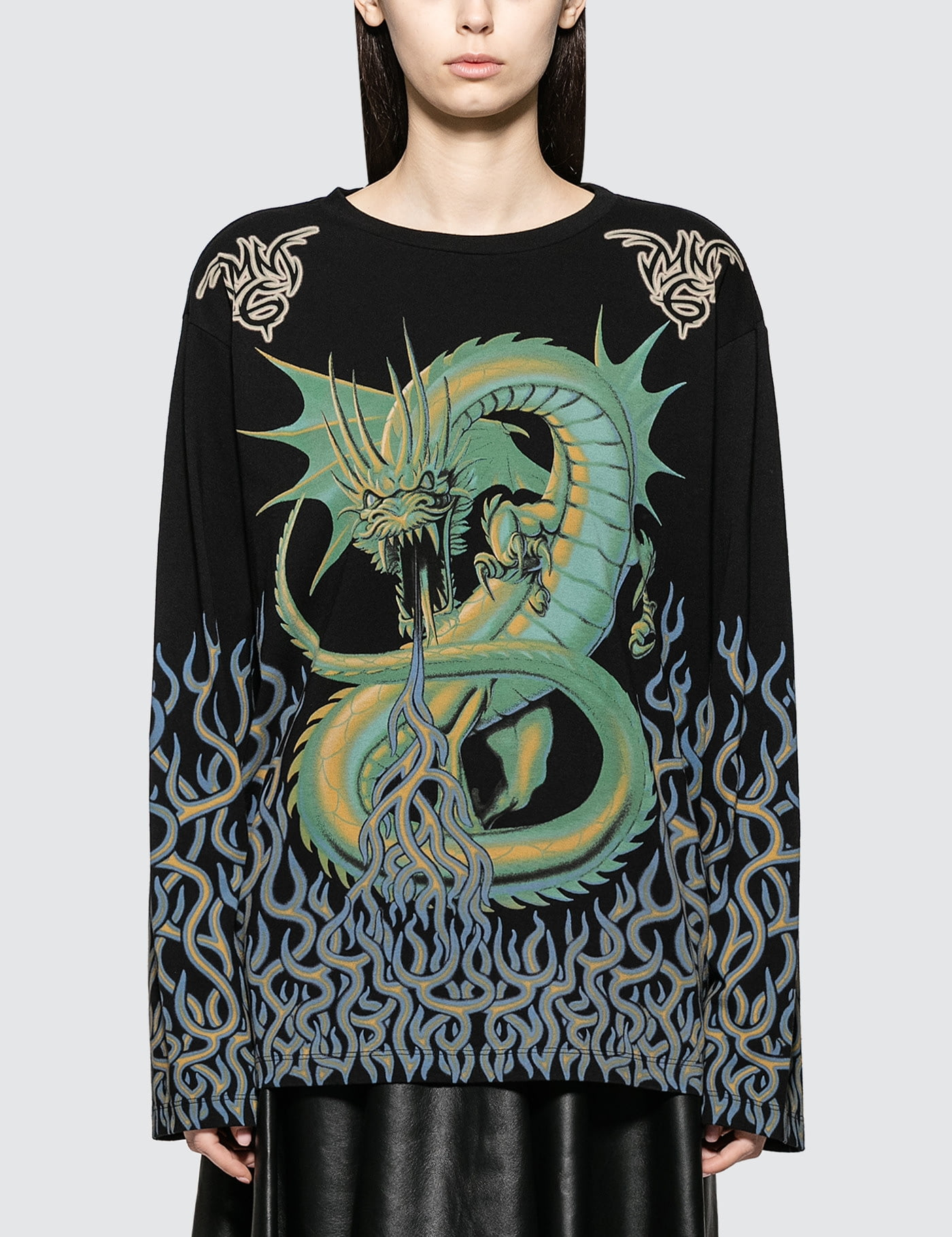 ca7ddbad6 Buy Original MM6 Maison Margiela Printed Oversized Long Sleeve T-Shirt at  Indonesia