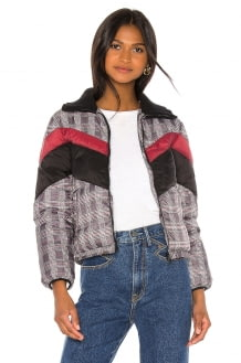 Central Park West Wesley Printed Puffer