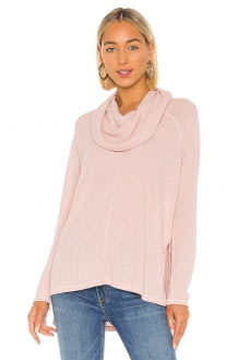 BB Dakota Jack By BB Dakota House Of Waffles Cowl Neck Top