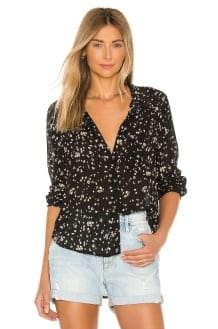 Bella Dahl Rounded Hem Pocket Button Down Top